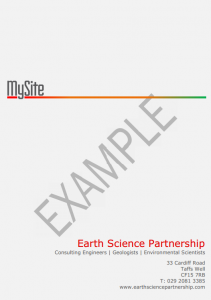 Download a sample ESP MySite Report (as a lower resolution PDF)